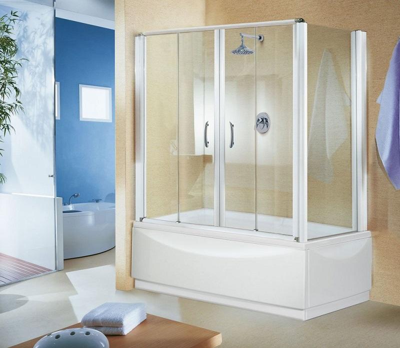 Стеклянные шторы для ванной