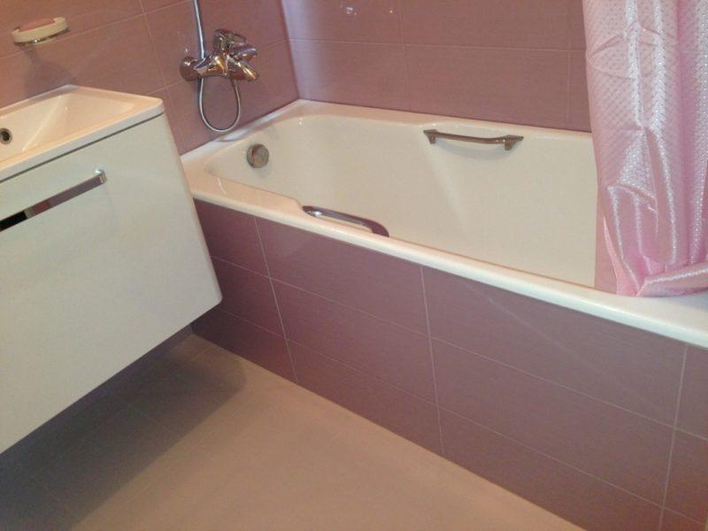 Простая отделка ванной