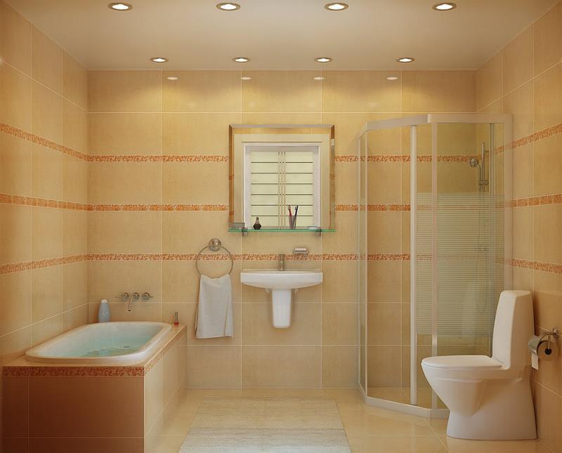 вариант дизайна ванной
