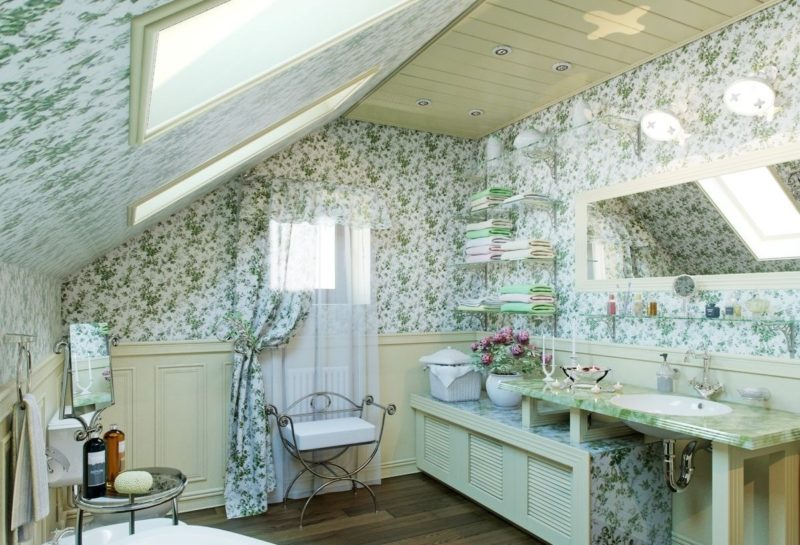 Стиль прованс для ванной
