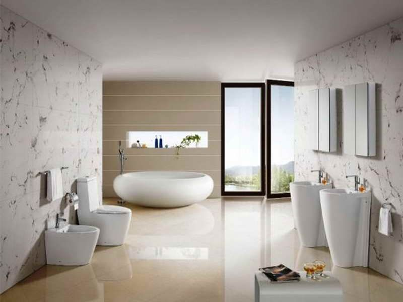 ванная в стиле хай тек