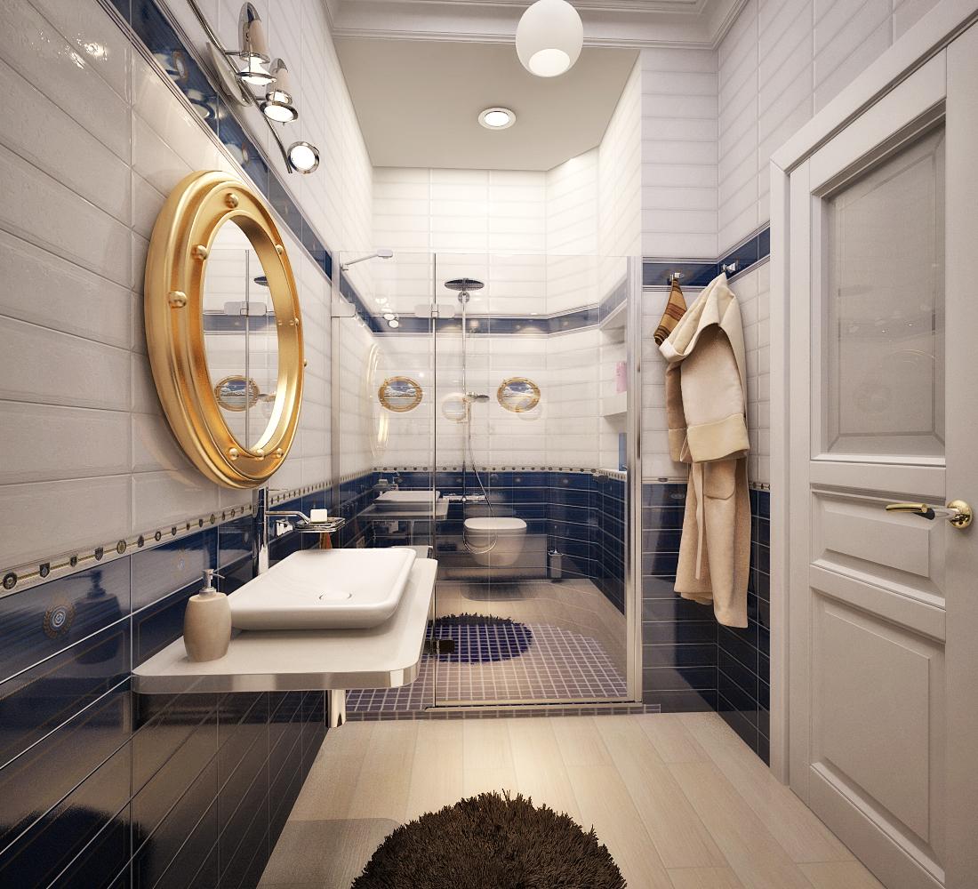Морской стиль в ванной