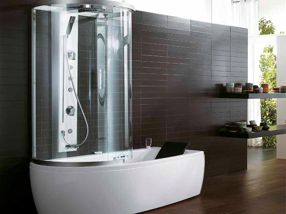Совмещенная с ванной душевая кабина