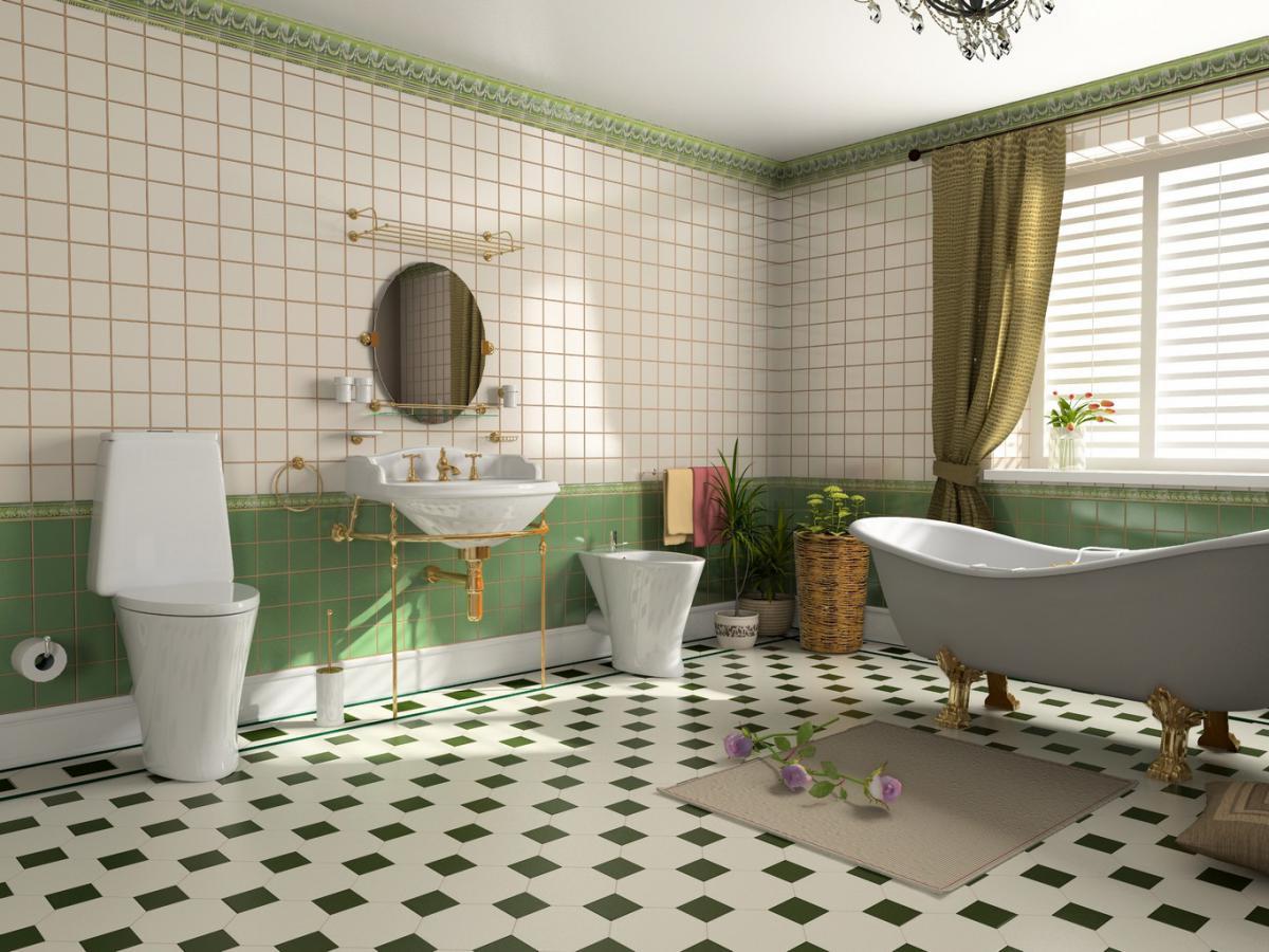 Зеленая плитка