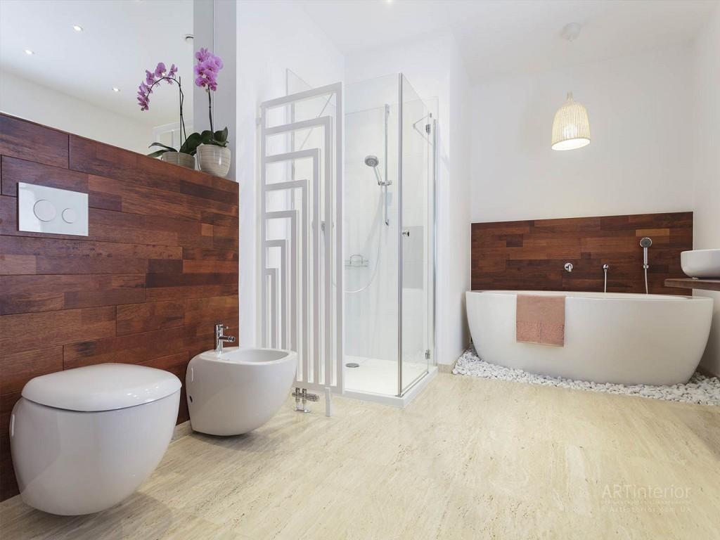 Современный дизайн душевой комнаты