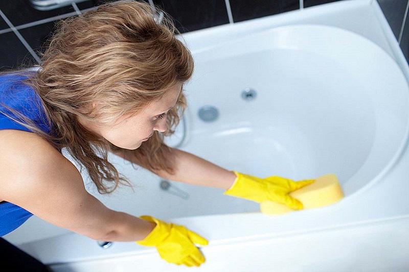 Чистка ванны перекисью водорода и содой