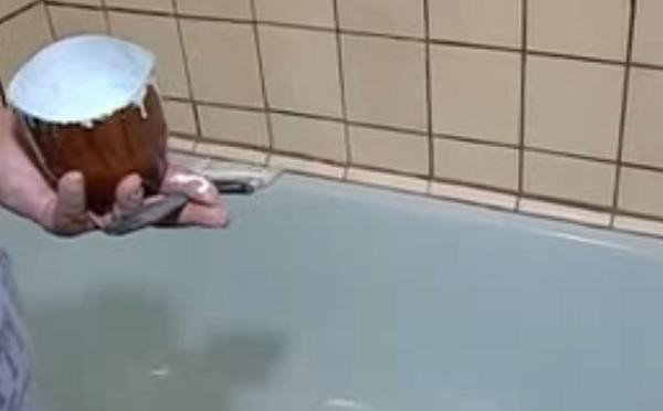 красим БУ ванну с помощью акрила в домашних условиях