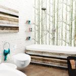 Скандинавский стиль ванной