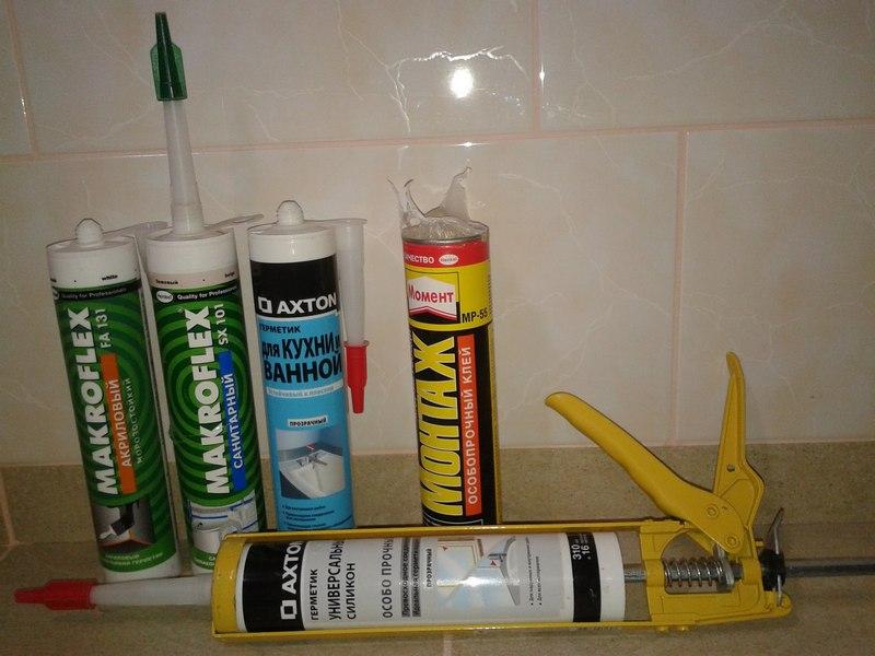 Разные герметики для ванной