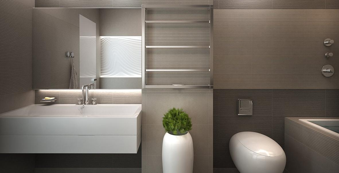 Лаконичный минимальный стиль в ванной