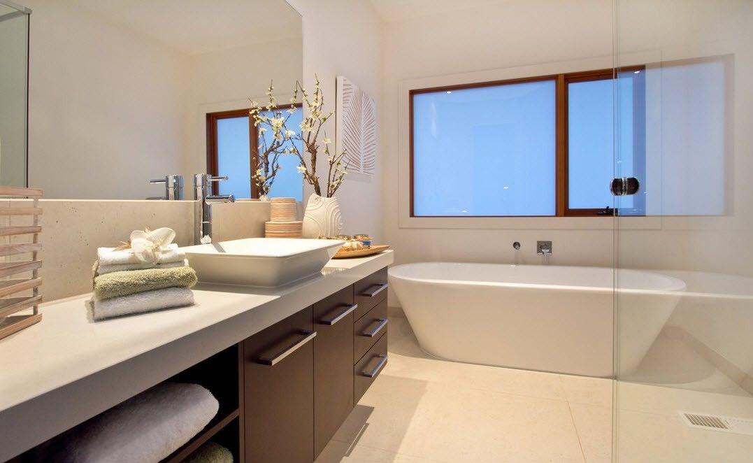 Простой минимальный дизайн ванной