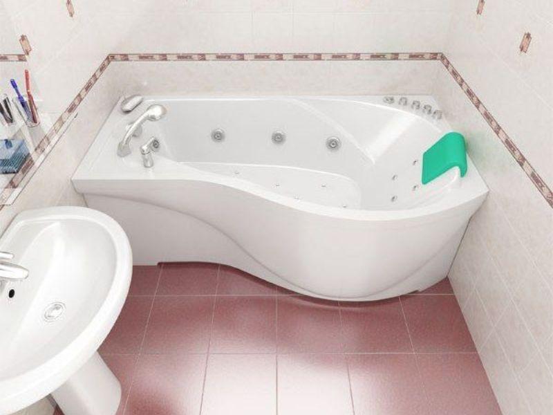 Акриловая ванна фигурная