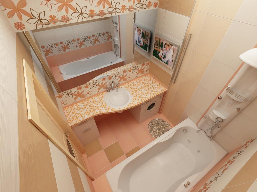 Розовая ванная