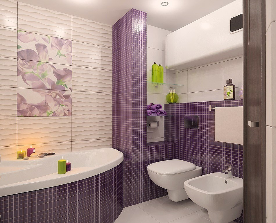 Ванная с плиткой