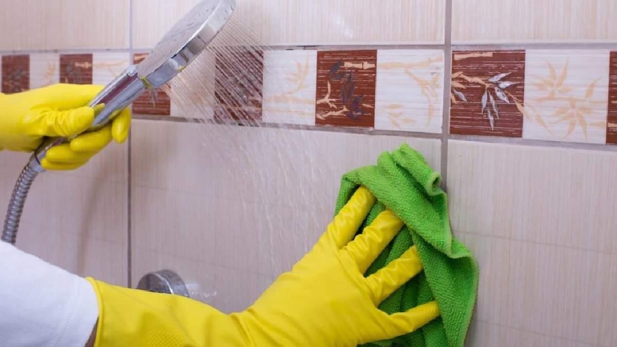 Как и чем очищать плитку в ванной комнате?