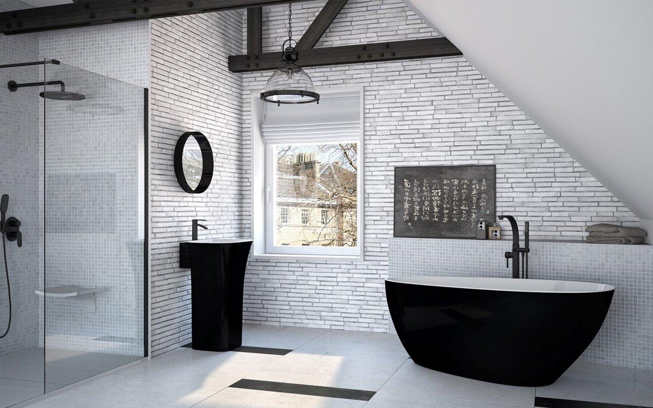 нестандартные решения оформления ванной